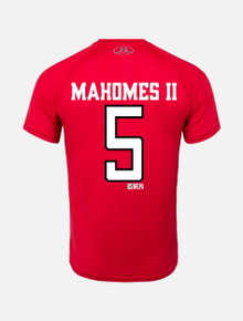 Under Armour Texas Tech Red Raiders Mahomes Football Stack Short Sleeve T-Shirt