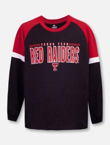 "Texas Tech Red Raiders Double T ""Ollie"" YOUTH Long Sleeve Raglan T-Shirt"