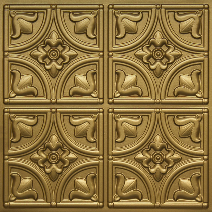 148 Brass Glue Up Decorative Ceiling Tile
