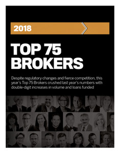 2018 CMP Top 75 Brokers (available for immediate download)