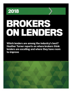 2018 CMP Brokers on Lenders (available for immediate download)