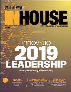 2019 Canadian Lawyer InHouse 14.05 (available for immediate download)