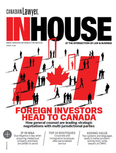 2019 Canadian Lawyer InHouse 14.06 (available for immediate download)