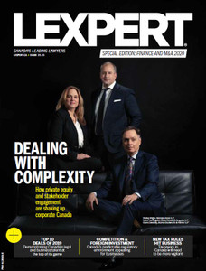 2020 Lexpert Special Edition on Finance and M&A (available for immediate download)