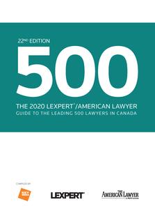 2020 LEXPERT/ALM 500 DIRECTORY