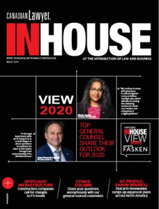2020 Canadian Lawyer InHouse 15.01 (available for immediate download)