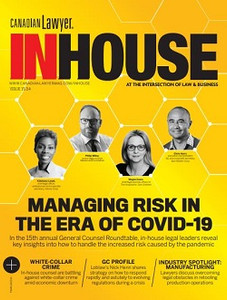 2020 Canadian Lawyer InHouse 15.04 (available for immediate download)