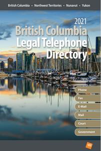 British Columbia Legal Telephone Directory, 2021 Edition (Digital)