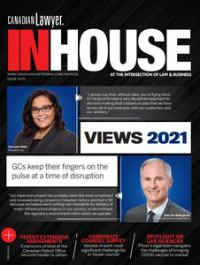 2021 Canadian Lawyer InHouse 16.01 (available for immediate download)