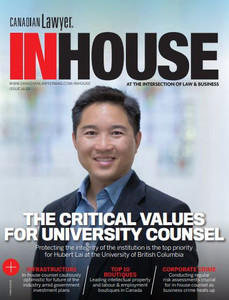 2021 Canadian Lawyer InHouse 16.02 (available for immediate download)
