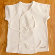 Short Sleeve Baby Kimono (Ivory)