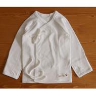 Long Sleeve Baby Kimono (Jacquard Y Ivory )