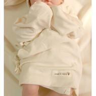 Long Sleeve Baby Kimono ( Organic Cream Beige )