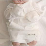 Long Sleeve Baby Kimono (Ivory Jacquard )
