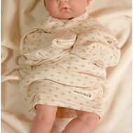 Long Sleeve Baby Kimono (Heart Cream Beige)