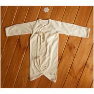 Button Baby Kimono Gown (S-Jacquard Cream Beige )