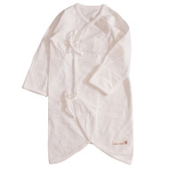 Button Newborn Night Gown (S- Ivory)