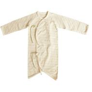 Button Baby Kimono Gown ( S-5m Olive Stripe)