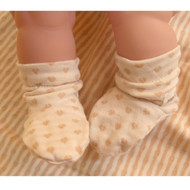 Baby Bootie  (Heart Pattern Jacquard )