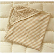 Baby Blanket (28.7 * 28.7 inches ) Stripe  Pattern Jacquard