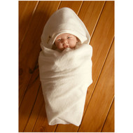 Baby Blanket (28.7 * 28.7 inches ) Terry Ivory
