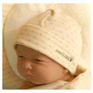 Baby Cap (Dot Pattern Jacquard)