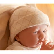 Baby Cap (Check Pattern Jacquard)