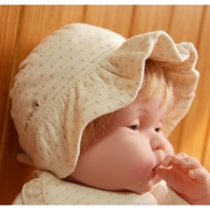 Baby Frill Cap ( Dot Pattern Jacquard)