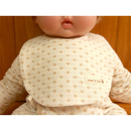 Button Bib  ( Heart Pattern Jacquard )