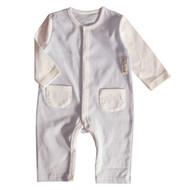 2 Pocket Jumpsuit ( S-GOTS Milk Blue)