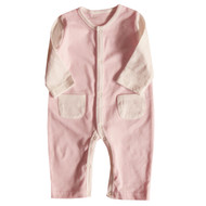 2 Pocket Jumpsuit ( S-GOTS Milk Pink)
