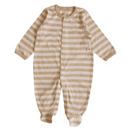 Footie Jumpsuit ( S-7m Brown Stripe)