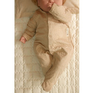 Footie Jumpsuit  ( Milk Brown)