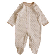 Footie Jumpsuit ( Heart Pattern Jacquard )