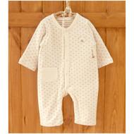 One Pocket Jumpsuit ( Heart Pattern Jacquard )