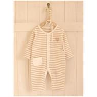 One Pocket Jumpsuit ( Y-Brown Stripe)