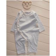 Side Button Jumpsuit  ( S-GOTS Milk Blue)