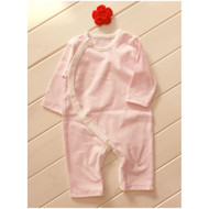Side Button Jumpsuit  (S-GOTS Milk Pink)