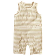 Sleeveless Jumpsuit  ( Olive Stripe)