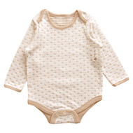 Long sleeve Bodysuit ( Heart Pattern Jacquard)