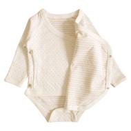 Kimono Style Long sleeve Bodysuit ( Dot Pattern Jacquard)