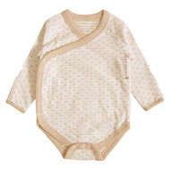 Kimono Style Long sleeve Bodysuit (Heart Pattern Jacquard )