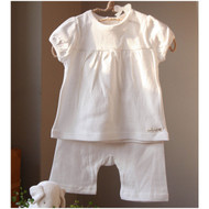 Puff Short Sleeve Top / Pants (Ivory)
