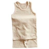 Sleeveless Top / Pants (Olive Stripe)