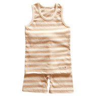 Sleeveless Top / Pants (S-7m Brown Stripe)