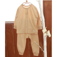4 Buttons Top / Pants ( Milky  Brown)