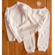 Side Button Pocket Top / Pants (Terry Ivory )