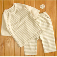 Cropped Pants / Top ( S-5m Olive Stripe)