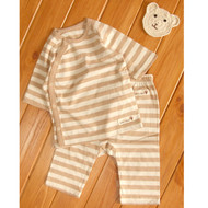 Cropped Pants / Top ( S-7m Brown Stripe)