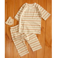 Cropped Pants / Top( S-Beige Olive Brown)